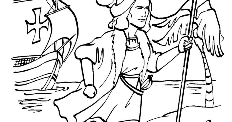 print columbus day free coloring pages