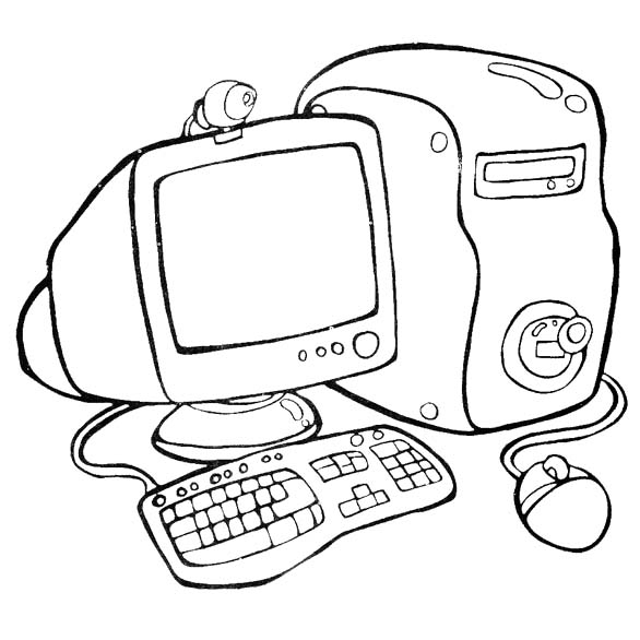 Printable Computer Coloring Pages