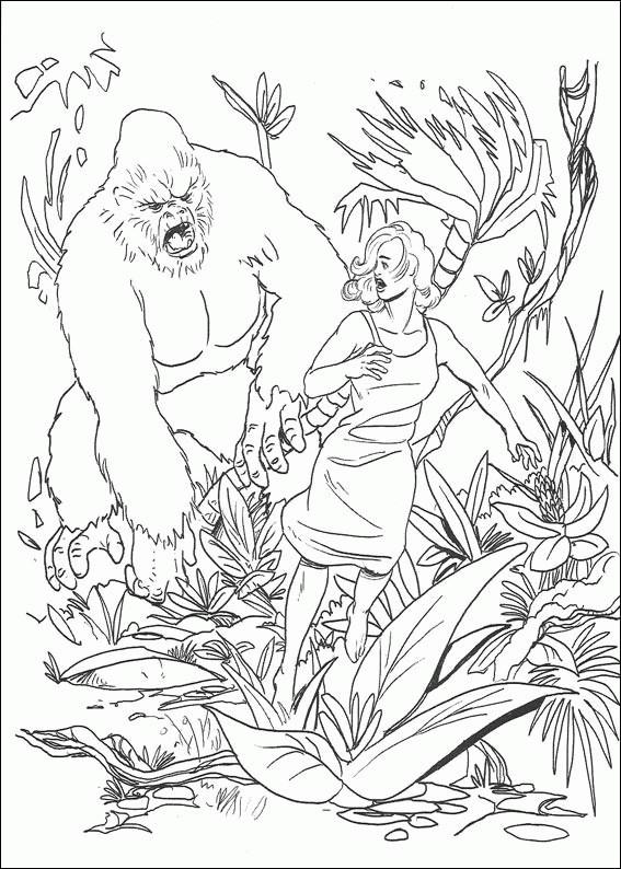 printable king kong coloring to print for free