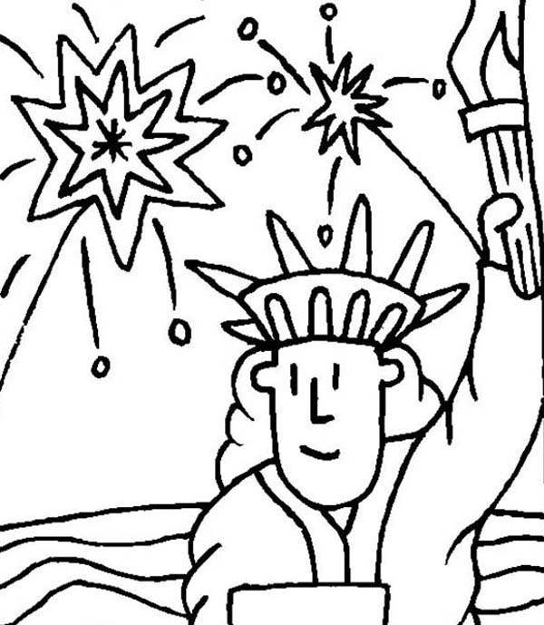 printable picture of the statue of liberty