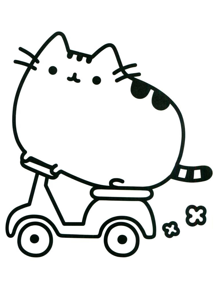 Pusheen Pictures To Color
