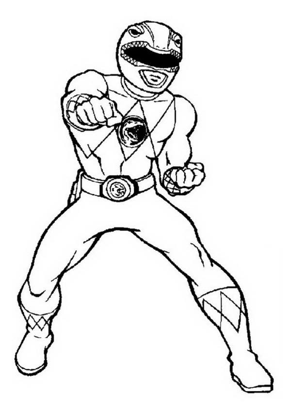Red Power Ranger Coloring Page