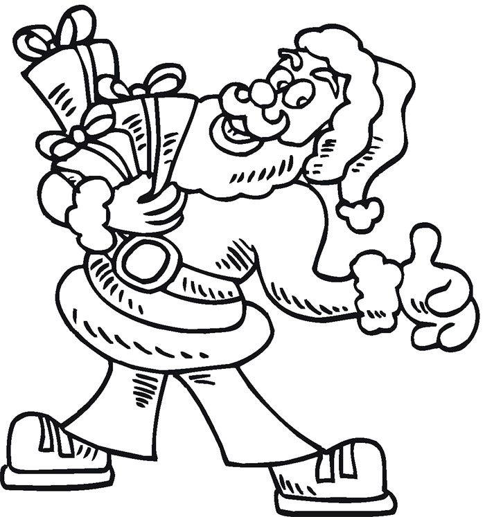 Santa Claus Coloring Pages Free Printables