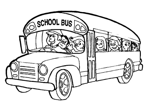 School Bus Coloring Page For Toddlers