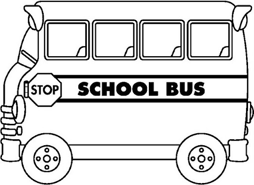 School Bus Coloring Sheets
