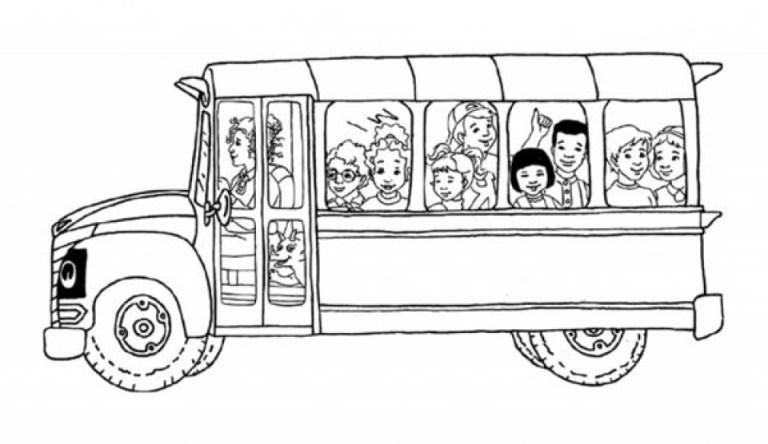 School Bus Coloring Wallpaper Hd