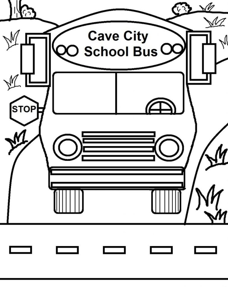 School Bus Printable Template