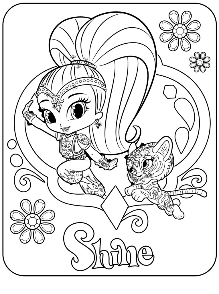 Shimmer And Shine Coloring Pages To Print