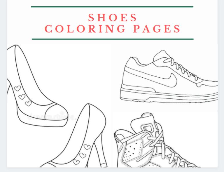 shoe coloring pages