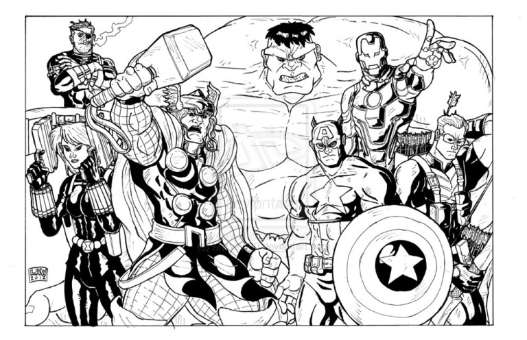 Simple Avengers Captain America Coloring Pages