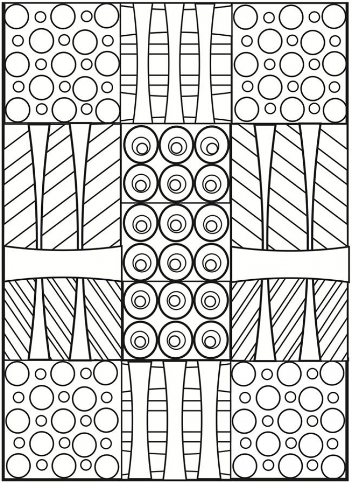 Simple Geometric Coloring Pages