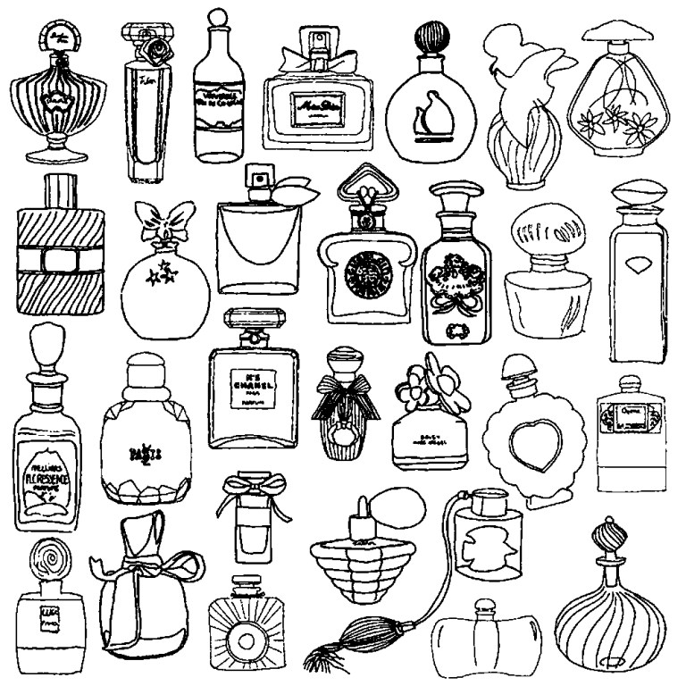 small cosmetic coloring pages pictures