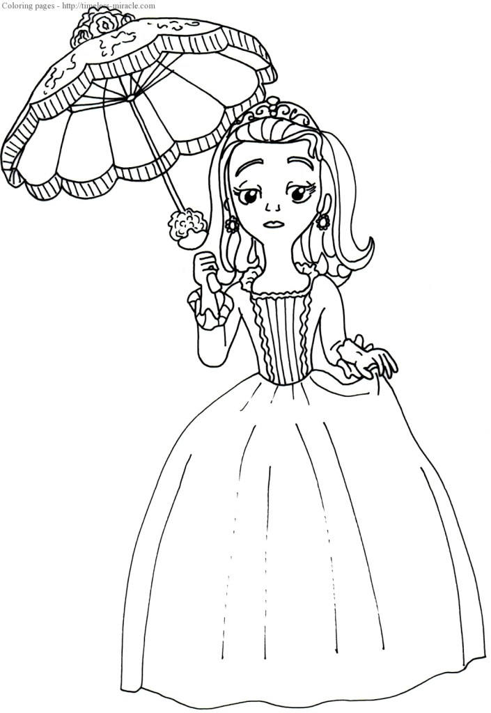 Sofia Mermaid Coloring Pages