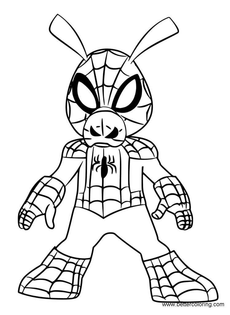 Spiderman Colouring