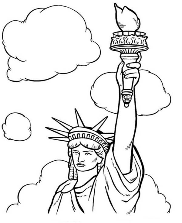 statue of liberty color sheet