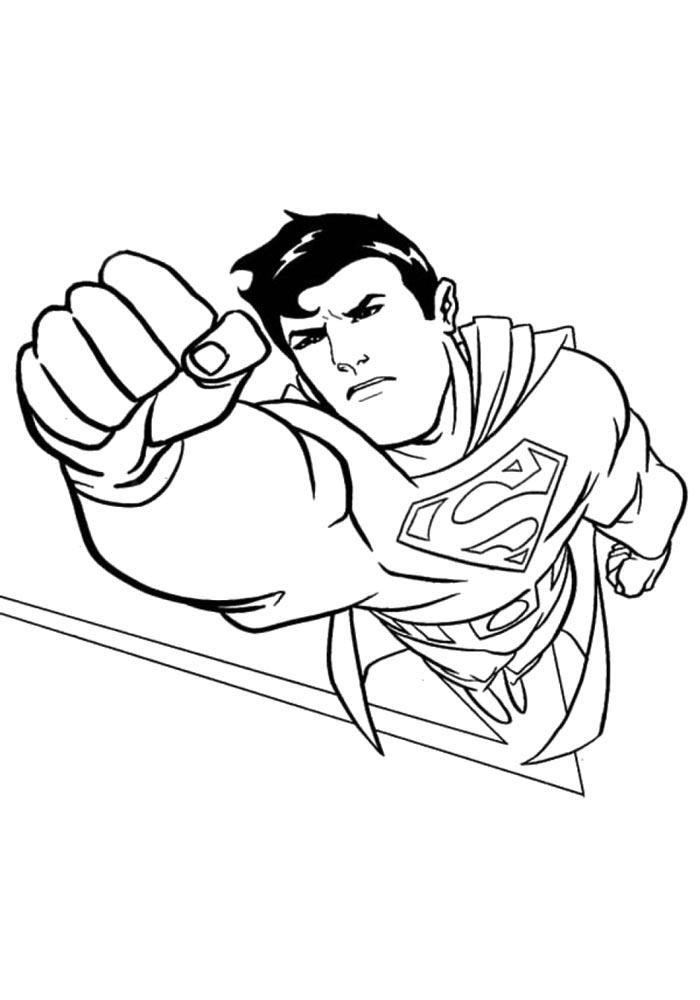 superman coloring book download and print