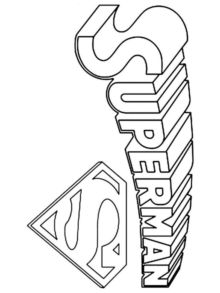 superman logo coloring pages free printable wallpaper HD