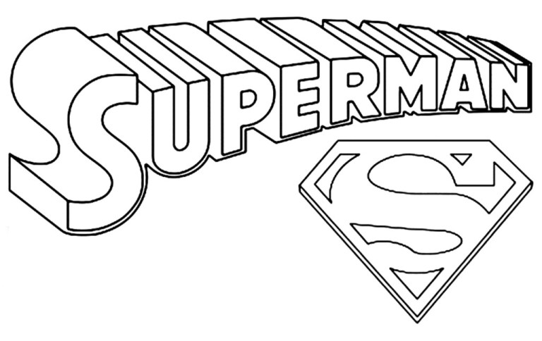 superman logo coloring pages to download and print for free ideas