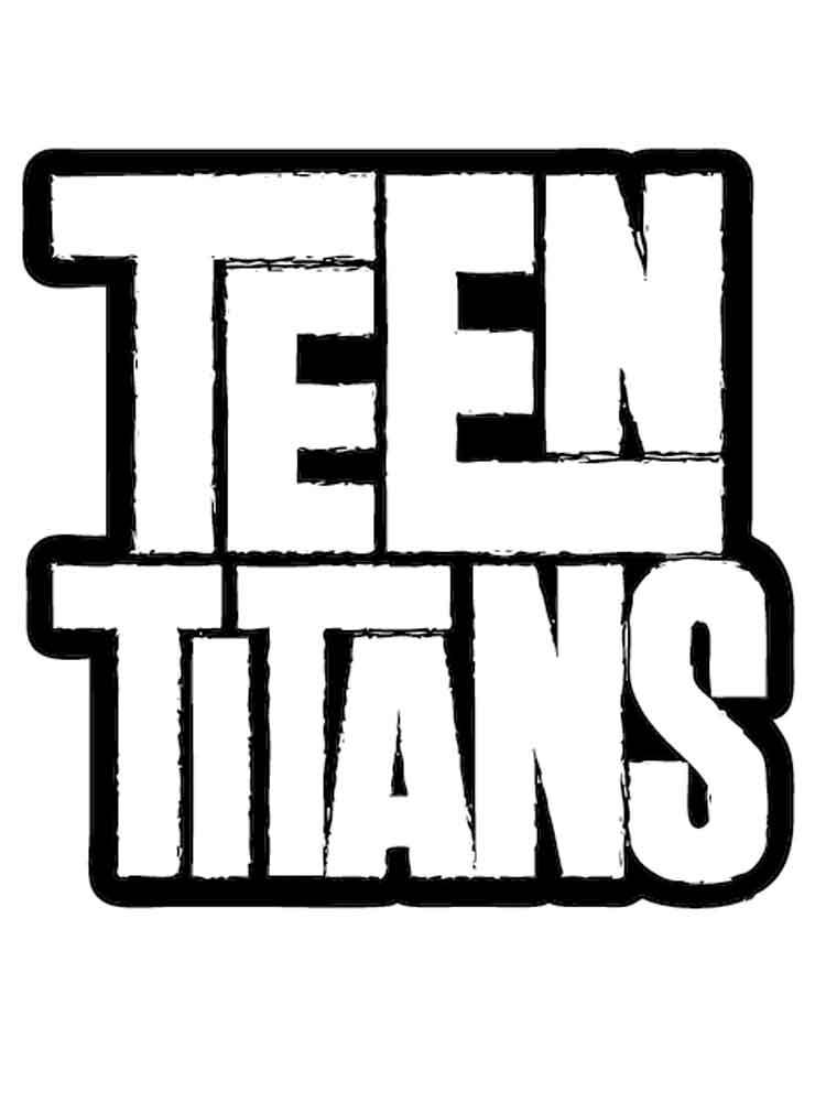 teen titans go logo coloring printable