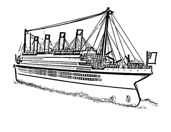 Titanic Coloring Page Online For Boys And Print