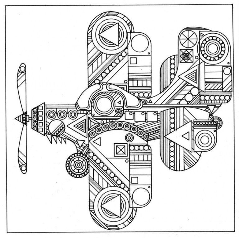 transport abstract adult coloring sheets to print online