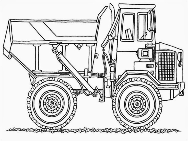 Truck Outline Coloring