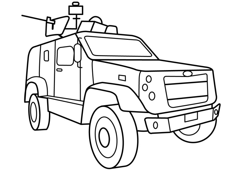 Vehicles Army Man Coloring Pages