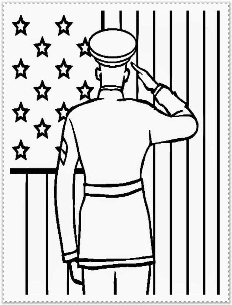 Veteran Day Coloring Sheet