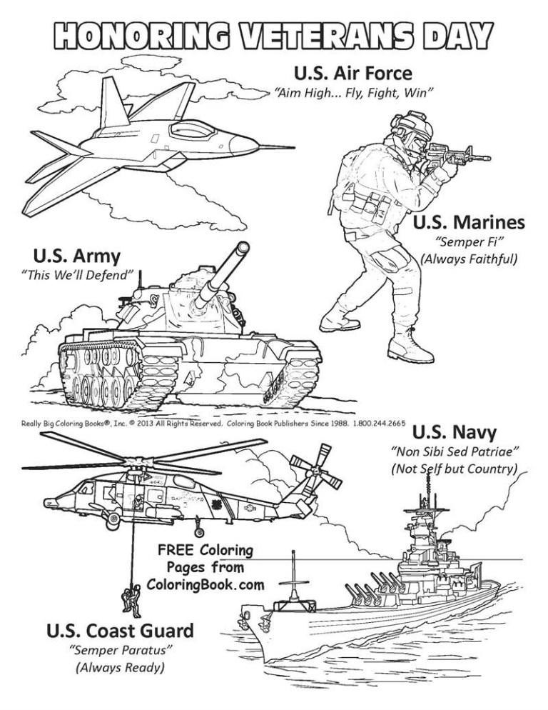 Veterans Day Coloring Pages Kindergarten
