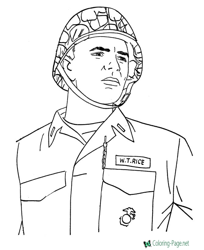 Veterens Day Coloring Pages