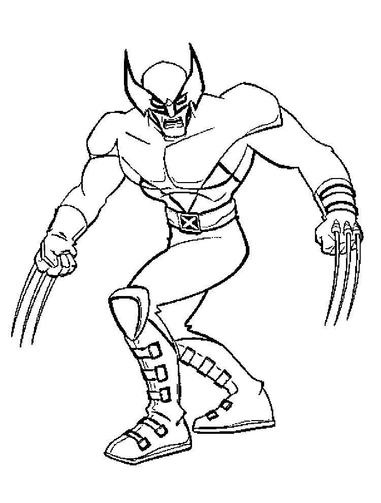 wolverine coloring pages photos
