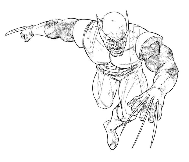 wolverine coloring to download and print for free collection