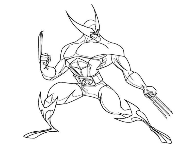 wolverine coloring to online image