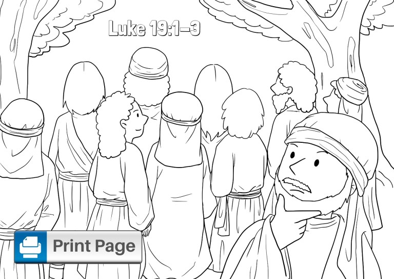 zacchaeus coloring pages for preschoolers