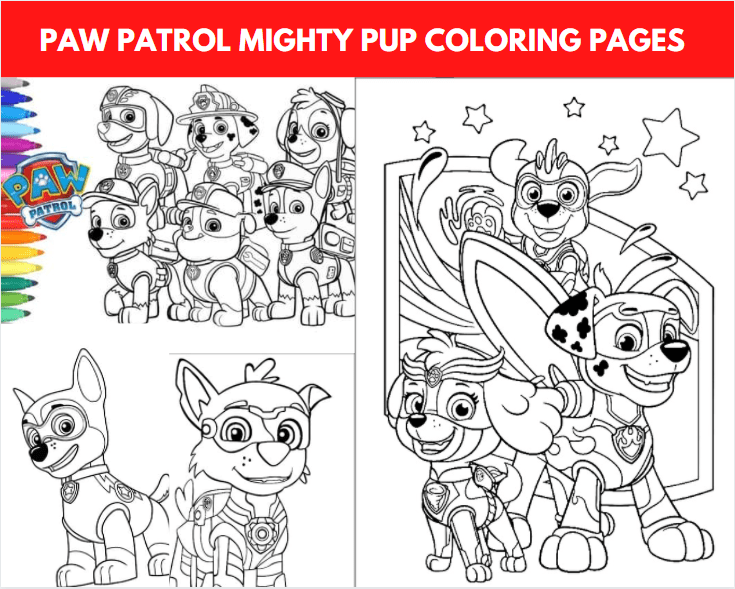 Paw Patrol Mighty Pup Coloring Pages