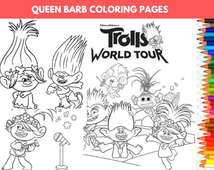 Queen Barb Coloring Page