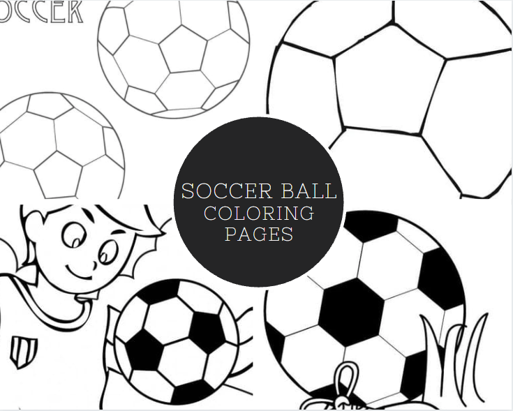 Soccer Ball Colouring Page