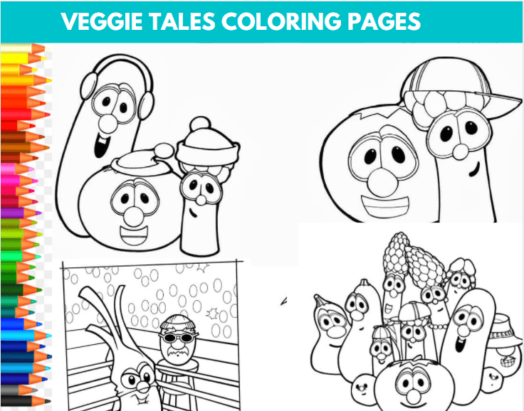 Veggie Tales Coloring Sheets
