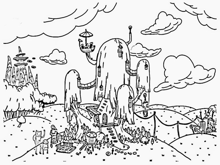 Adventure Time Coloring Pages All Characters