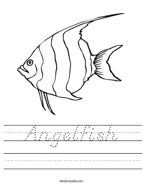 angelfish worksheet to printable
