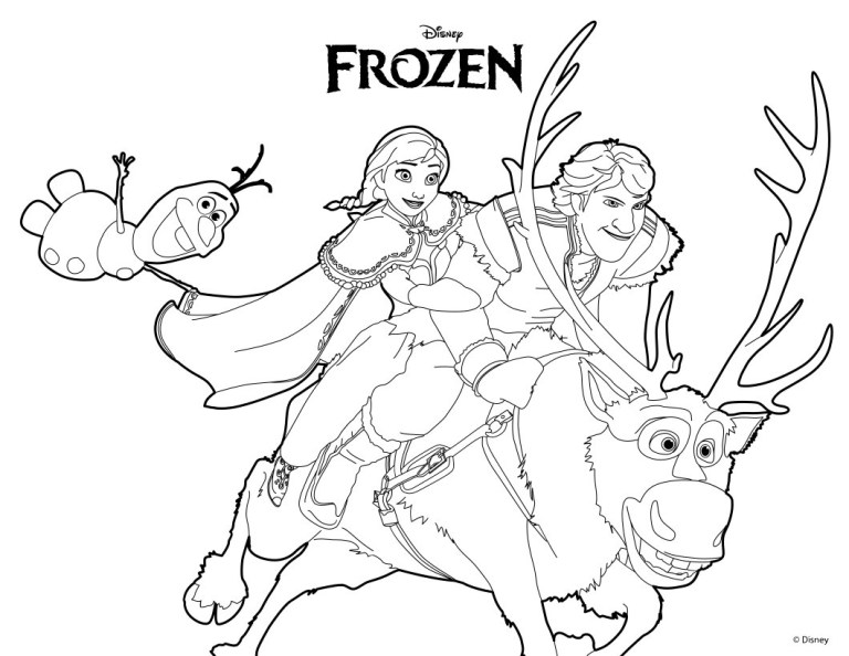 Anna And Kristoff Coloring Pages