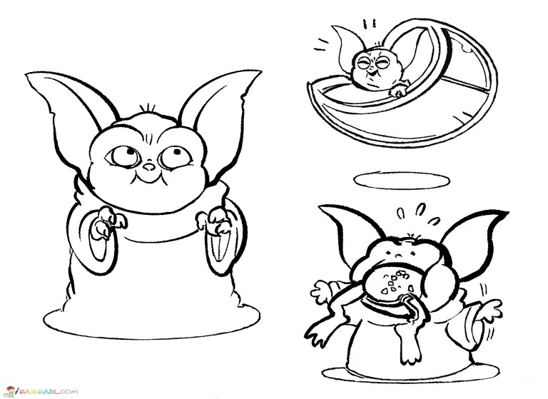 Baby Yoda Coloring Pages To Print