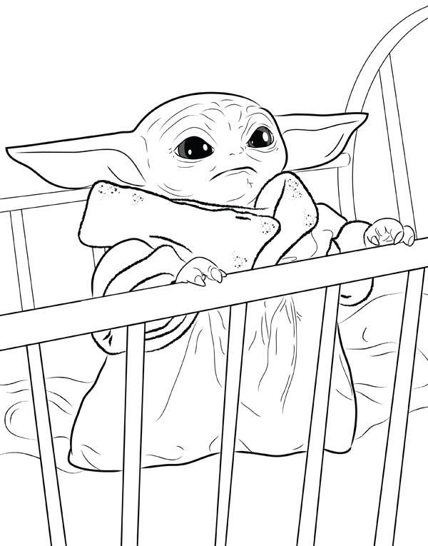Baby Yoda Free Printable Coloring Pages