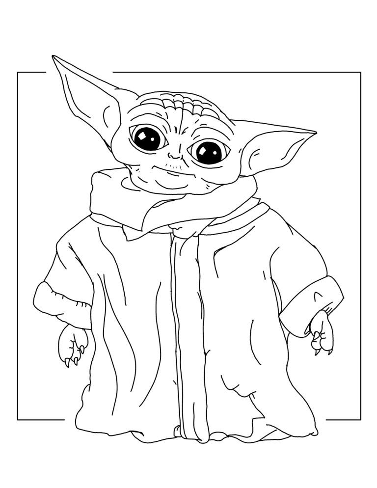 Baby Yoda Printable