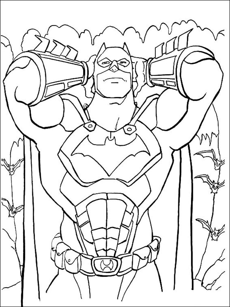 Batman And Robin Coloring Page