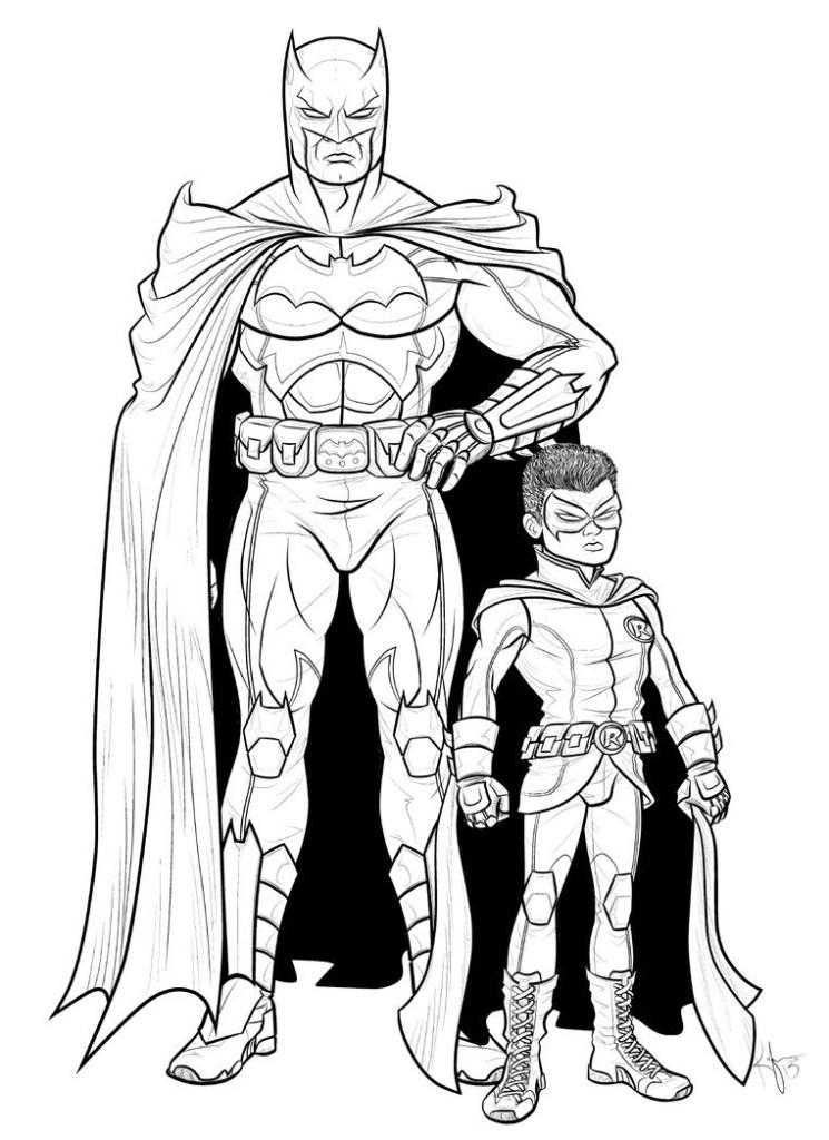 Batman And Robin Stencil
