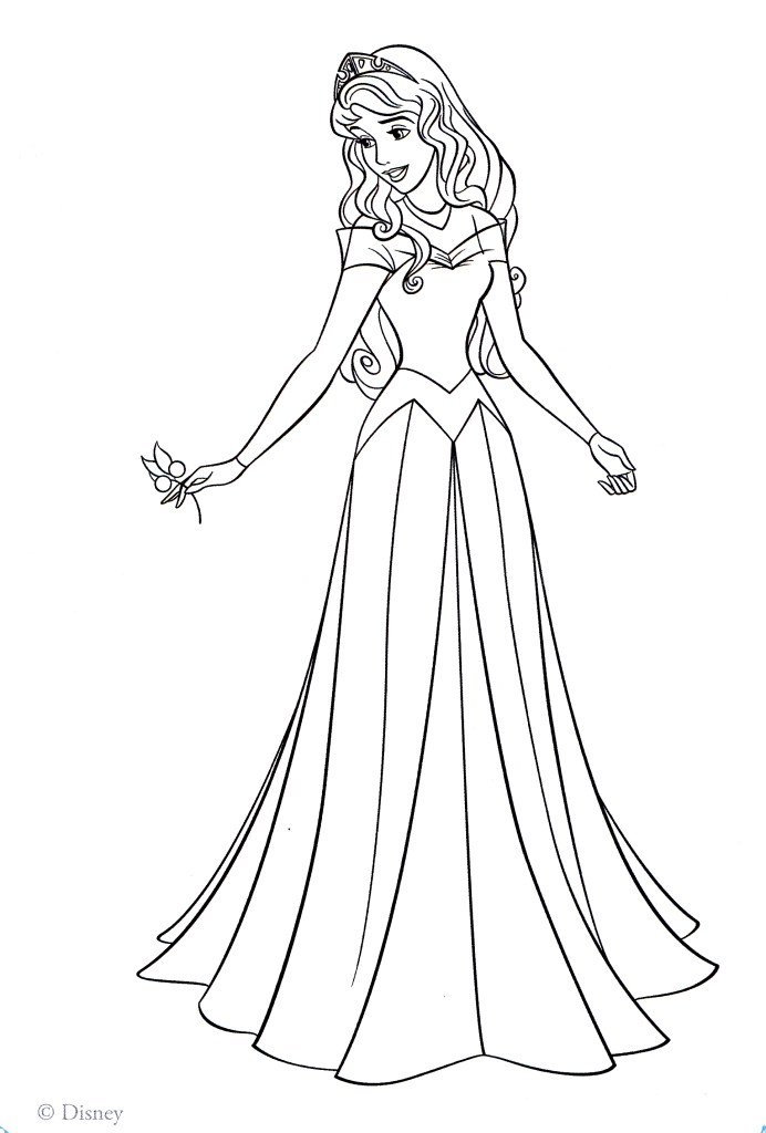Belle Coloring Picture