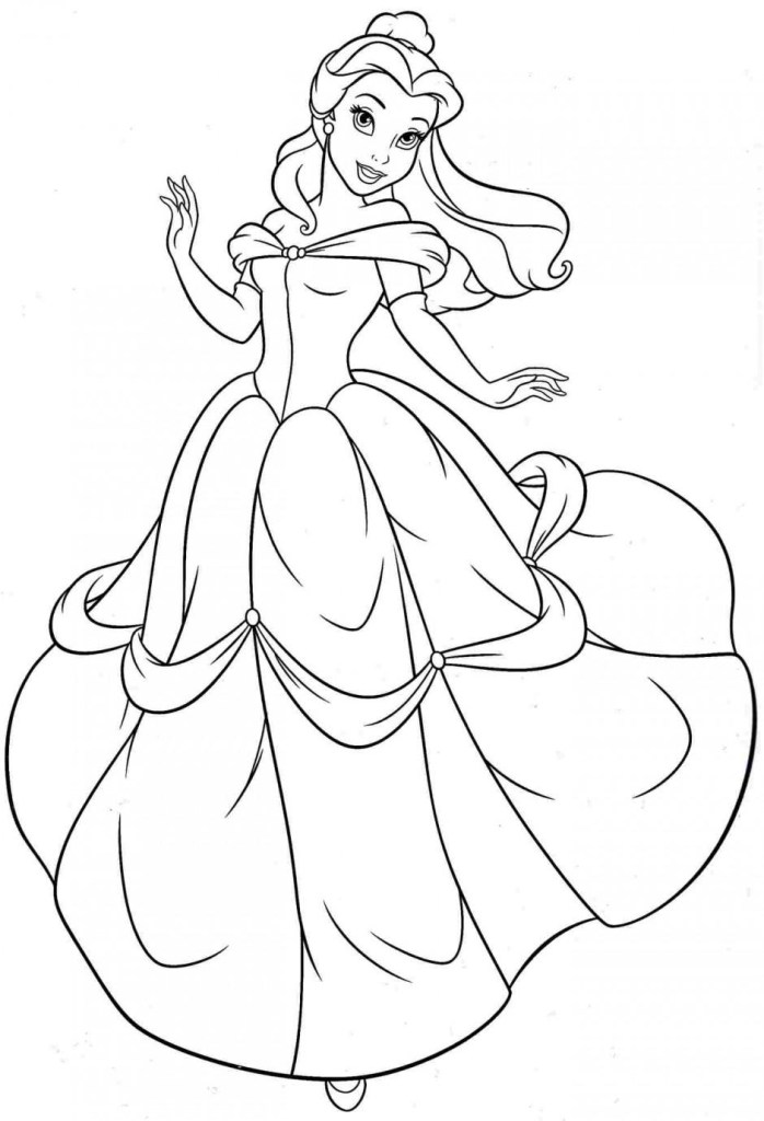 Belle Printable Coloring Pages