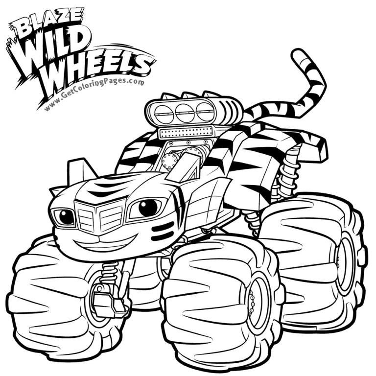 Blaze Monster Truck Coloring Page
