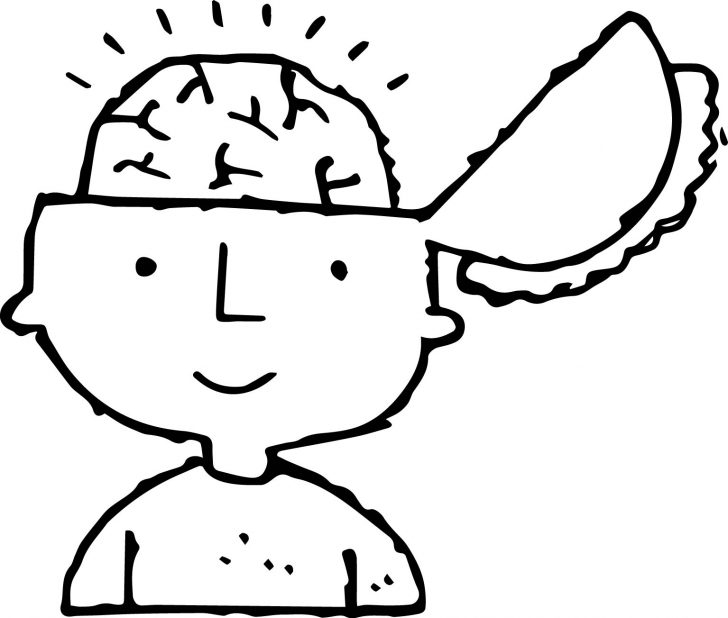 Brain Coloring Page Labeled